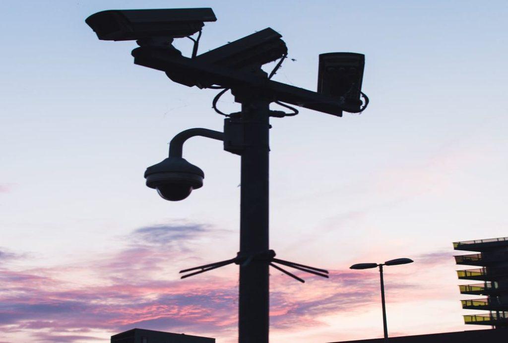 security camera and beams